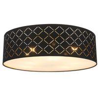 Lampy sufitowe, Plafon Globo Clarke 15229D6 lampa sufitowa 6x60W E27 czarny / złoty