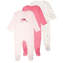 mothercare OH SO TINY SLEEPSUITS BABY 3 PACK Piżama pale pink