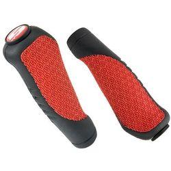 Chwyty kierownicy profilowane Sram Comfort Grips czarno czerwone, 133mm
