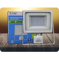 Naświetlacz LED, 50W, 4250 lm, biały + Bezpłatna natychmiastowa gwarancja wymiany! Zimna biała 6000K