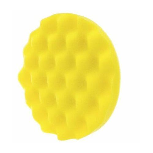 Gąbki samochodowe, RRC Wave 150mm żółta średnia gąbka polerska
