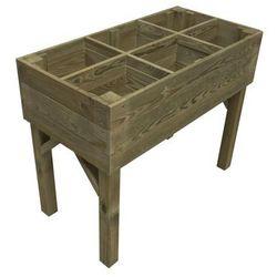Warzywnik - zielnik 100 x 50 cm drewniany STELMET