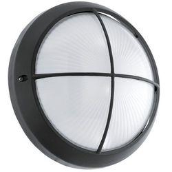 Kinkiet lampa ścienna plafon Eglo Siones 1 1x11W LED czarny/biały 96342