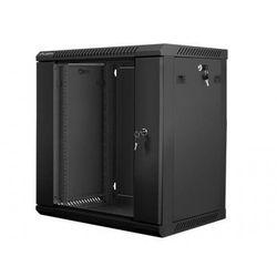 LANBERG Szafa instalacyjna wisząca 19'' 12U 600X450mm czarna (drzwi szklane)