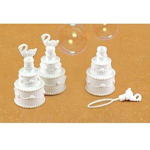 Pozostałe na ślub i wesele, Bańki mydlane - torciki z łabędziami - 1 szt.