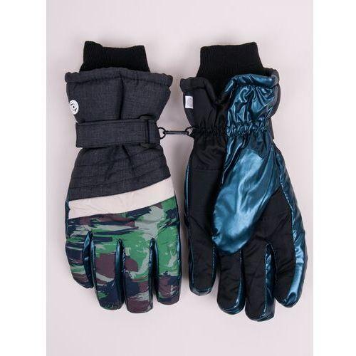 Odzież do sportów zimowych, Rękawiczki narciarskie męskie niebieskie moro 20