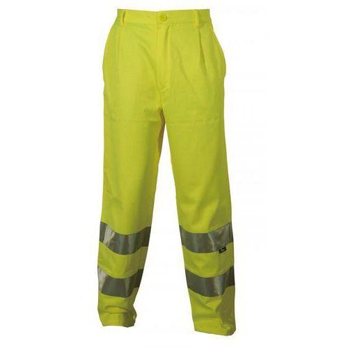 Spodnie i kombinezony ochronne, Spodnie robocze ostrzegawcze żółte, rozmiar XXXL