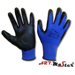 Rękawice robocze ochronne dziane z poliestru powlekane nitrylem RNIT PAS KAT II 10