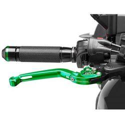 Regulowana dźwignia hamulca PUIG (z zawiasem 90 stopni, zielona)