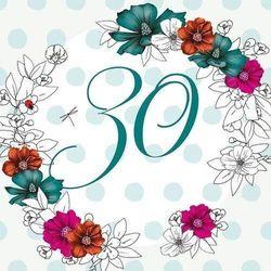 Karnet Swarovski kwadrat Urodziny 30 kwiaty - Clear Creations. DARMOWA DOSTAWA DO KIOSKU RUCHU OD 24,99ZŁ