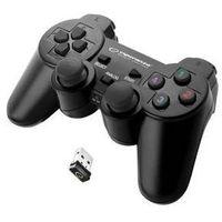 Gamepady, Gamepad Esperanza EGG108K Gladiator pro PC/PS3 (EGG108K - 5901299947234) Czarny