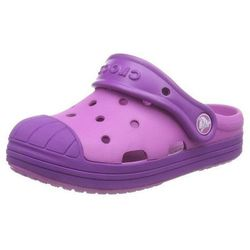 Klapki dla dziewczynek Crocs Bumper Toe Różowo-fioletowe