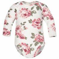 Body niemowlęce, Body dla niemowląt z długim rękawem Białe Róże - Dolce Sonno