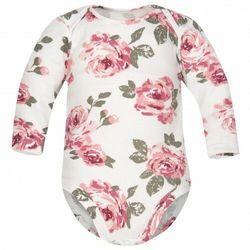 Body dla niemowląt z długim rękawem Białe Róże - Dolce Sonno