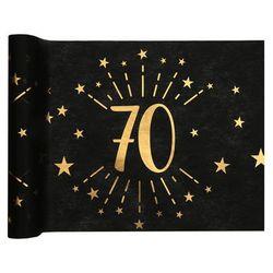 Dekoracja bieżnik na stół z nadrukiem na 70 urodziny Sparkling - 30 x 500 cm - 1 szt.