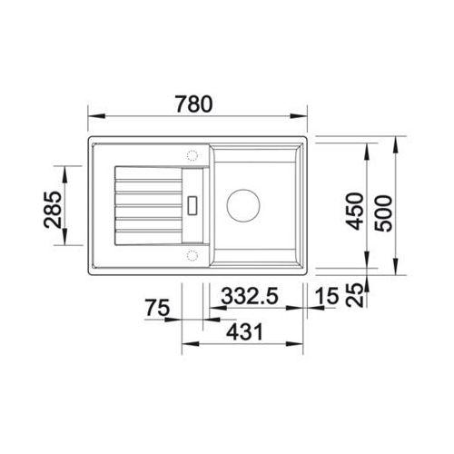 BLANCO ZIA 45 S - Biały \ Automatyczny