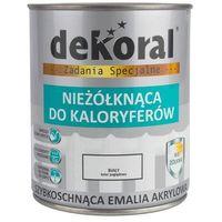 Farby, Emalia akrylowa NIEŻOLKNĄCA DO KALORYFERÓW 0.75 l Biała Połysk DEKORAL