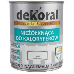 Emalia akrylowa NIEŻOLKNĄCA DO KALORYFERÓW 0.75 l Biała Połysk DEKORAL
