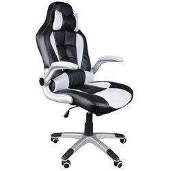 Fotel biurowy GIOSEDIO czarno-biały, model BST042