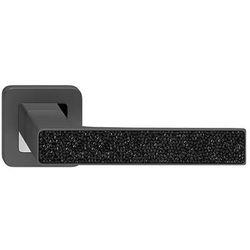 Klamka drzwiowa Metalbud Deco grafitowa z czarnymi kryształkami