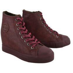 BIG STAR BB274303 burgund, trzewiki, sneakersy damskie