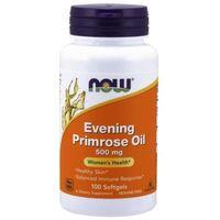 Pozostałe ziołolecznictwo, Now Foods Olej z Wiesiołka (Evening Primrose Oil) 500 mg 100 kapsułek