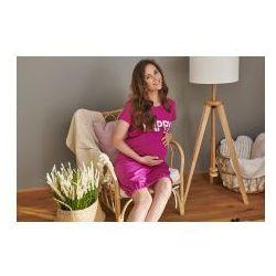 Koszula nocna ciążowa i do karmienia HAPPY MOMMY - Fuchsia
