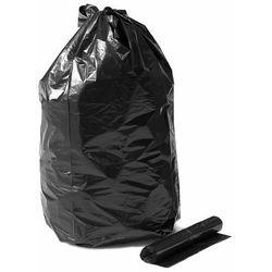 Grube worki na odpady, 15 rolek (10 sztuk/rolka), 125 L, czarny