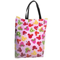 EKO torba bawełniana - owocowe myszki na jasnym tle