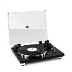 Auna Pure Precision Gramofon, napęd paskowy, 33 1/3 & 45 obr./min, kolor czarny