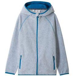 Bluza rozpinana z polaru z kapturem bonprix jasnoszary melanż