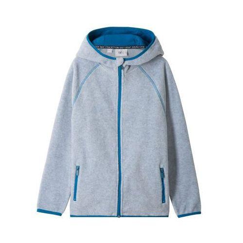 Bluzy dla dzieci, Bluza rozpinana z polaru z kapturem bonprix jasnoszary melanż