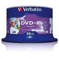 Płyty CD, DVD, Blu-ray, Płyta VERBATIM DVD+R Wide Inkjet Printable