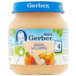 GERBER 125g Gruszki Williamsa Deserek w słoiczku 4m+