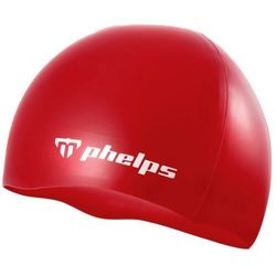 MP MICHAEL PHELPS CZEPEK CLASIC SILICONE RED WHITE, KOLOR: RED, MATERIAŁ: SILIKON