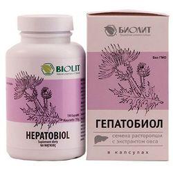 Ostropest plamisty i ekstrakt z młodych pędów zielonego owsa Hepatobiol 190 kapsułek Biolit