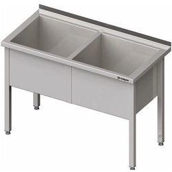 Stół z basenem dwukomorowym 1600x700x850 mm | STALGAST, 981387160