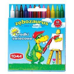 Kredki świecowe Toma Zębozaurus TO-558 12kol.