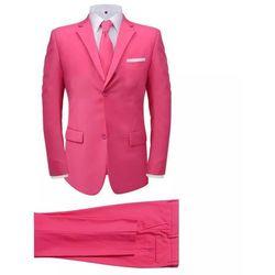 2-częściowy garnitur męski z krawatem różowy rozmiar 54