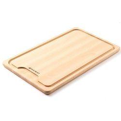 Drewniana deska z wycięciem do krojenia mięsa   390x230mm