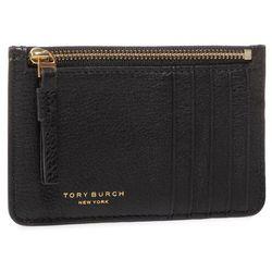 Etui na karty kredytowe TORY BURCH - Perry Top-Zip Card Case 61075 Black 001