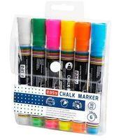 Markery, Marker kredowy 6 kolorów EASY