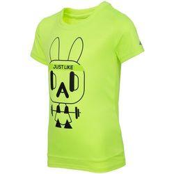 Koszulka treningowa dla małych chłopców JTSM304 - neonowy żółty
