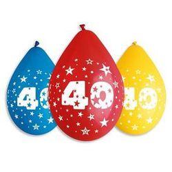Balony pastelowe z nadrukiem 40 - mix - 30 cm - 5 szt.