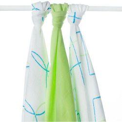 Kikko Pieluchy bambusowe 70x70cm - 3 sztuki – niebieski/zielony - BEZPŁATNY ODBIÓR: WROCŁAW!