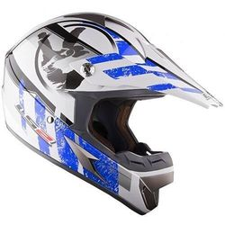 KASK LS2 MX 433 WHITE BLUE STRIPE