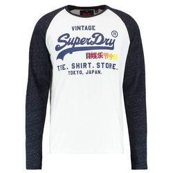 Superdry SHOP SURF RAGLAN TEE Bluzka z długim rękawem optic/midnight blue snowy