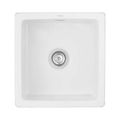 Deante zlew. sabor ceramiczny biały 1k b/o 475x450x180 + space saver (5908212071779)