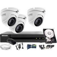 Zestawy monitoringowe, 3x HWT-T123-M Zestaw monitoringu Hikvision Hiwatch HWD-6104MH-G2, 1TB, Akcesoria