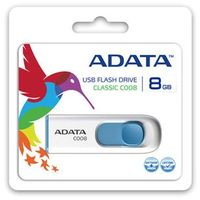 Flashdrive, Adata DashDrive Classic C008 8GB USB2.0 biało-niebieskie DARMOWA DOSTAWA DO 400 SALONÓW !!